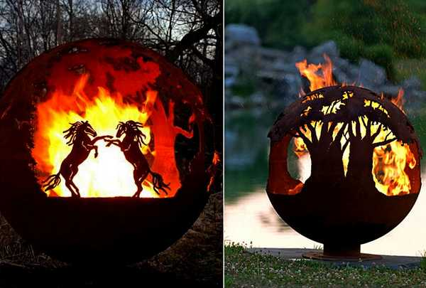 Fabulous Fire Pit Globes Adding Unique Yard Decorations To