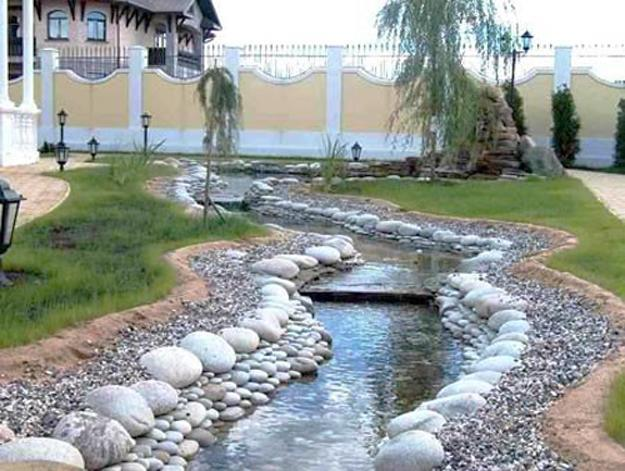 25 Beautiful Landscaping Ideas Adding Beach Stones to ... on Backyard Pebbles Design id=18750