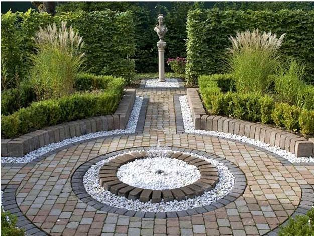 25 Unique Backyard Landscaping Ideas and Garden Path ... on Backyard Pebbles Design id=77590