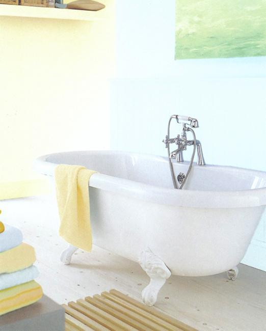 Blue And Yellow Bathroom Decor: Light Blue And Brown Color Combinations For Comforting