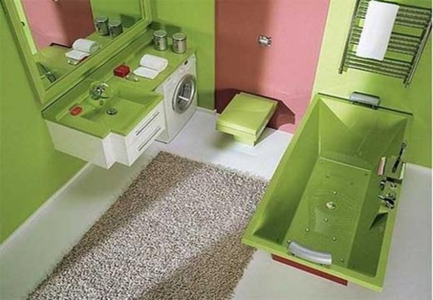 Modern Bathroom Design And Decor In Green Color Shades