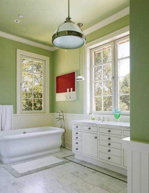 22 Modern Bathroom Ideas Blending Green Color Into