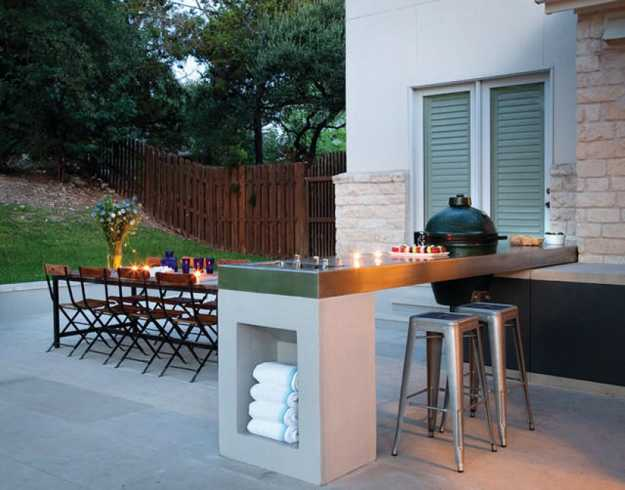 Modern backyard ideas outdoor dining area and BBQ kitchen island & Outdoor BBQ Kitchen Islands Spice Up Backyard Designs and Dining ...