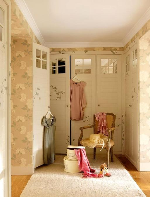 Romantic Home Decorating With Pink Color And Floral Wallpaper Pattern
