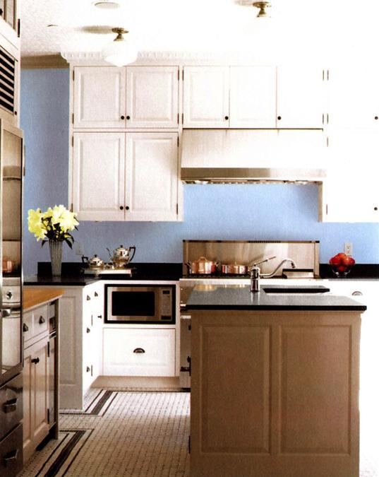 Modern kitchen and bedroom color schemes with light blue for Colour scheme for kitchen walls