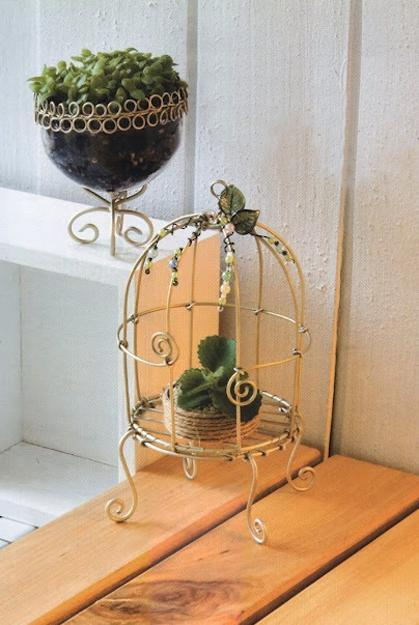 metal wire garden decorations, diy handmade