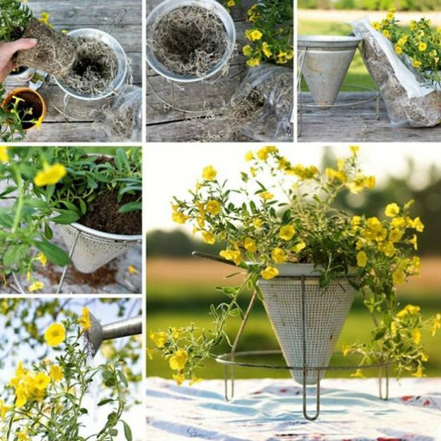 Diy backyard ideas turning metal wire into beautiful for Homemade garden decor crafts