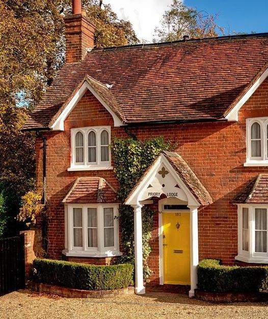 Bright Red Brick House Exterior