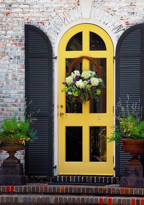 30 front door ideas and paint colors for exterior wood door decoration or home staging - Exterior painting process decoration ...