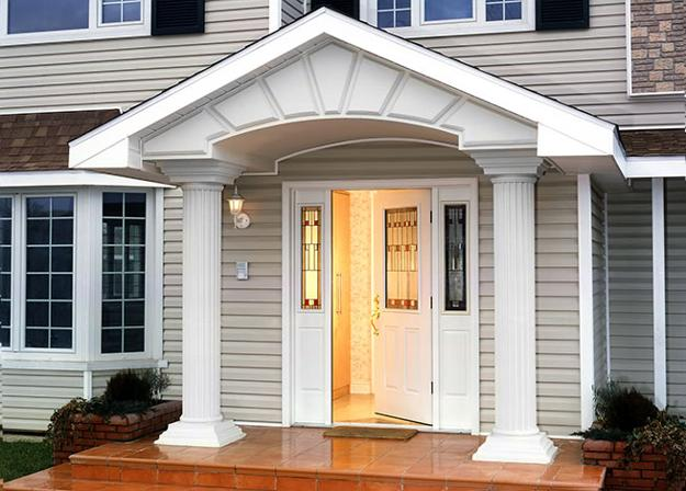 30 front door ideas and paint colors for exterior wood for White wooden front doors