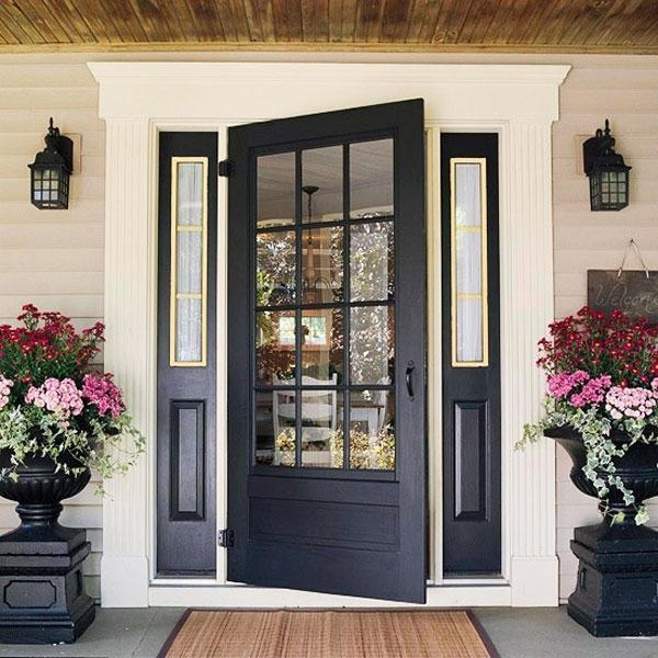Black And Gray Paint Colors For Exterior Wood Door Decorating