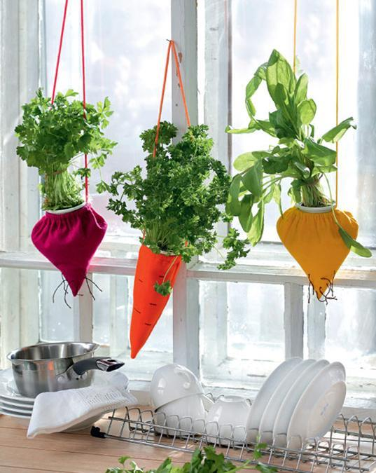 felt fabric craft ideas, hanging planters