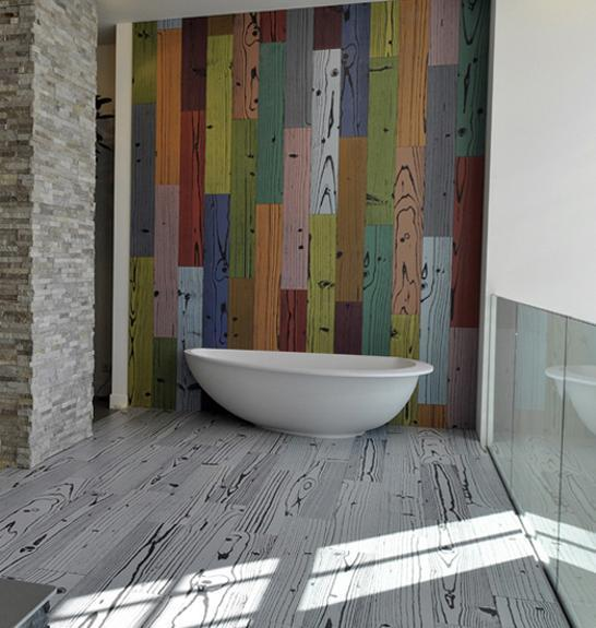 Textured Floor And Wall Tile Designs Mimicking Wood Brick Concrete Are Interior Design Trends 2014