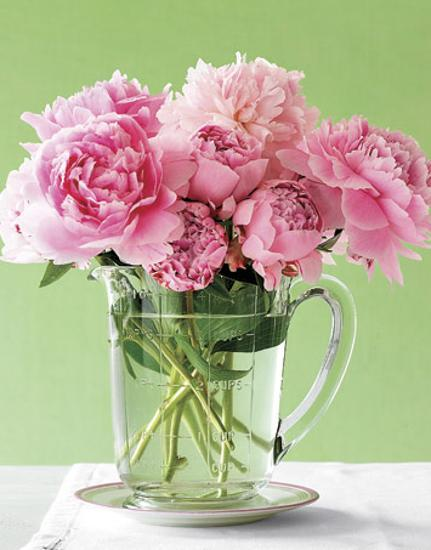 Romantic Mothers Day Presents In Vintage Style Fresh Flower Arrangements In Unusual Vases