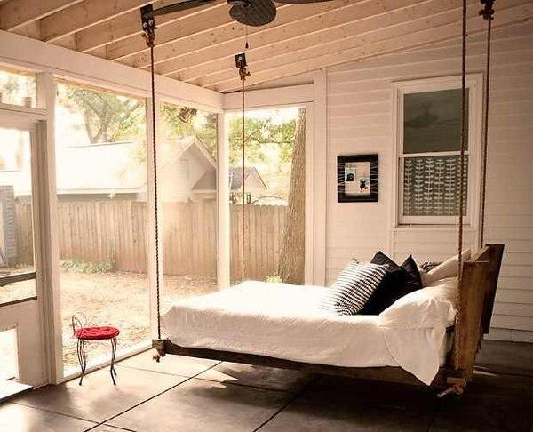 Baby Bed Hanging From A Ceiling