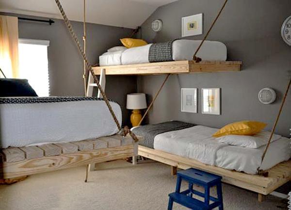 finest selection e4c2a 2961a 25 Hanging Bed Designs Floating in Creative Bedrooms