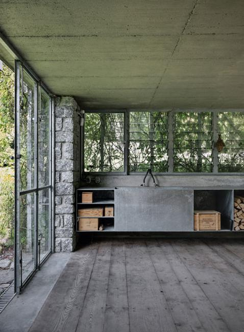 Home Design Minimalist Modern Pavilion Addition Green Interior Design Ideas: Garage Renovation Project Adding Green Pavilion To Natural Garden Design