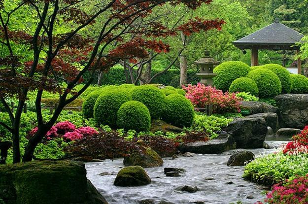 Beautiful Japanese Garden Design, Landscaping Ideas for ... on Small Backyard Japanese Garden Ideas id=56708