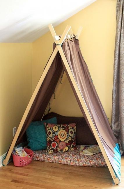 Romantic Cozy Bedroom: 22 Kids Tent Ideas For Children Bedroom Designs And