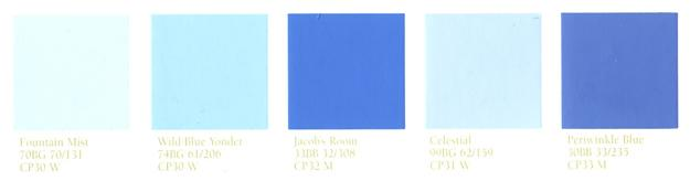 Light Blue Color Palette For Modern Interior Design And Decorating With Paint Colors