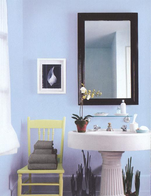 Light Blue Wall Paint Color Modern Bathroom Design