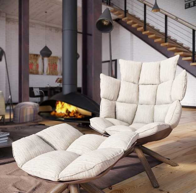 Industrial And Loft Living: Modern Loft Living Spaces Blending Organic Design And