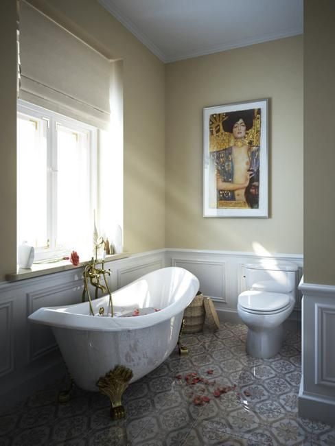 clawfoot bathtub for vintage bathroom design