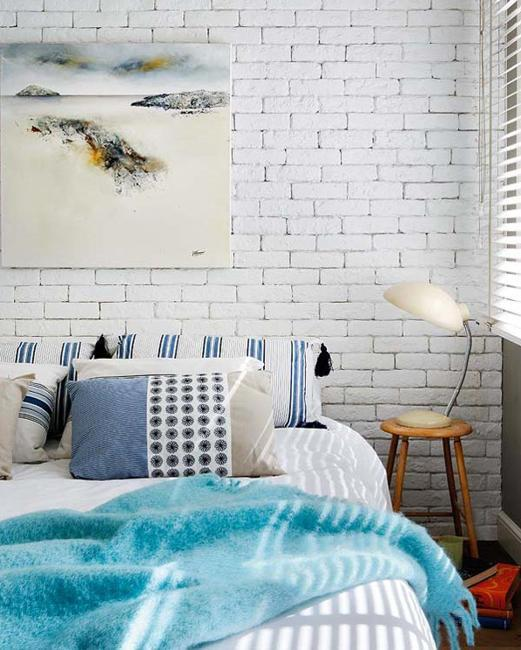 Color Choices For Home Interiors: 33 Modern Interior Design Ideas Emphasizing White Brick Walls