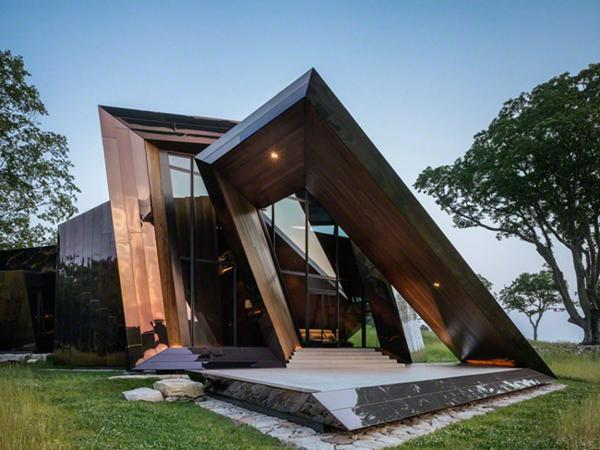 modern house design created with glass and steel