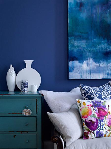 Matching Your Interior Design Color Schemes With Blue Color Shades Classy Blue Interior Design Painting