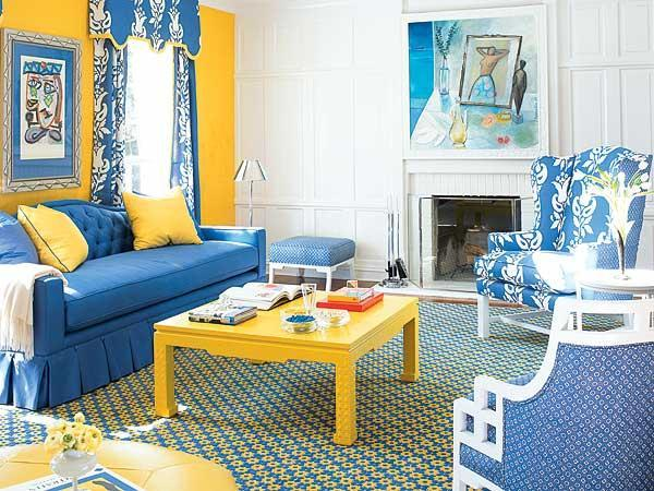 Yellow And Blue Interior Color Scheme