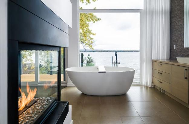Ottawa Riverfront House Design with Glass Walls Connecting Home ...