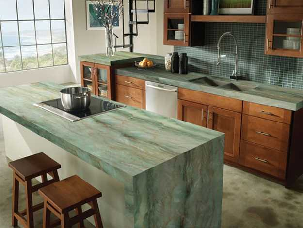 Concrete Countertops Over Laminate Kitchens Counter Tops