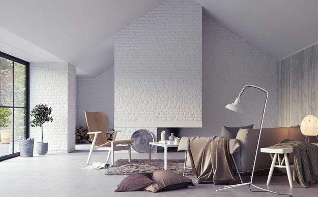 Living Room Designs With White Brick Walls