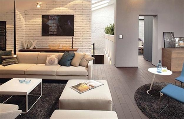 fabulous living room painted white brick wall   33 Modern Interior Design Ideas Emphasizing White Brick Walls