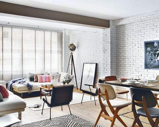 brick living room furniture. t dining rooms with white brick walls