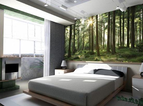 Nature inspired photo art prints and wallpaper designs & Modern Interior Design Trends in Wall Coverings Challenging ...