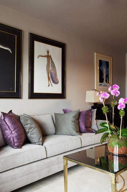 Modern Room Designs And Colors: Modern Home Decorating Ideas Blending Purple Color Into