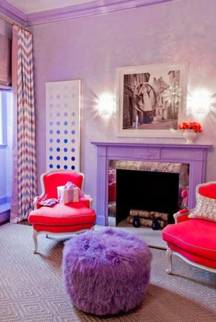 Purple Room Designs: Modern Home Decorating Ideas Blending Purple Color Into