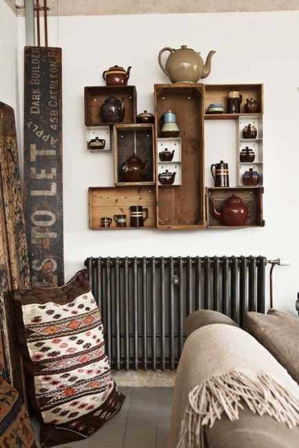 Interior Design With Reclaimed Wood And Rustic Decor In Country Home