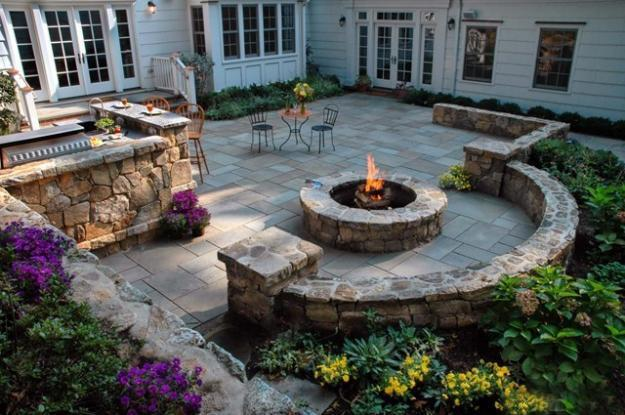 30 Stone Wall Pictures and Design Ideas to Beautify Yard ... on Backyard Masonry Ideas id=19896
