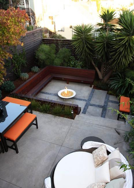 Concrete Bench Outdoor Seating Areas