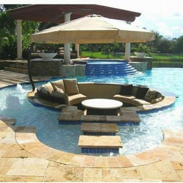 Pool Patio Decorating Ideas Seating Areas