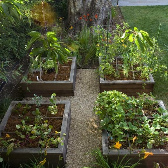 Raised bed garden design with flowers and watering system - 20 Raised Bed Garden Designs And Beautiful Backyard Landscaping Ideas