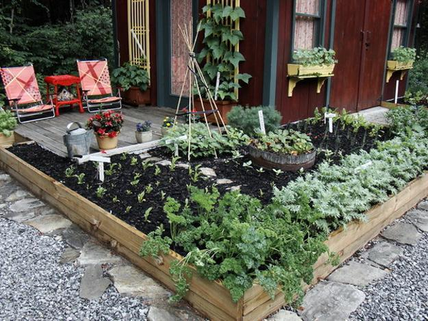 raised bed begetable garden design