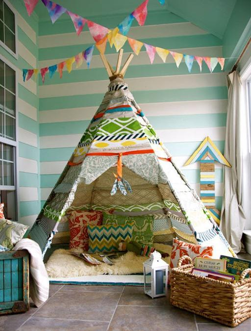 wigwam, kids playroom ideas