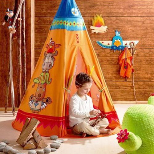 wigwam tents blending kids playroom ideas into cozy. Black Bedroom Furniture Sets. Home Design Ideas