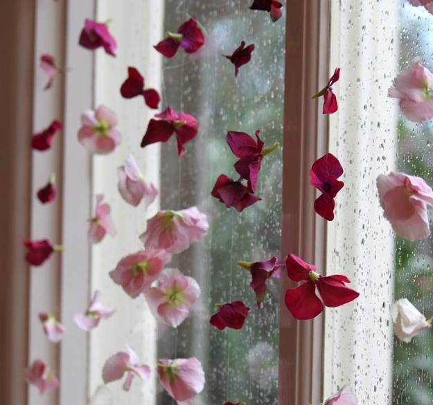 flower curtain, window treatment
