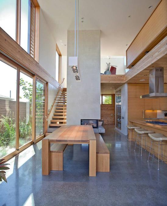 Modern Interior Design For House: Modern House Design With Warm Wooden Interiors And