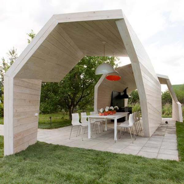 wooden gazebo contemporary style